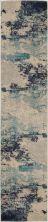 Nourison Celestial Ivory/Teal Blue 2'2″ x 12'0″ Runner CES02VRYTLBL12RUNNER