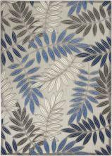 Nourison Aloha Grey/Blue 5'3″ x 7'5″ ALH18GRYBL5X8