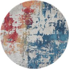 Nourison Ankara Global Multicolor 6'0″ x 6'0″ Round ANR10MLTCLR6ROUND