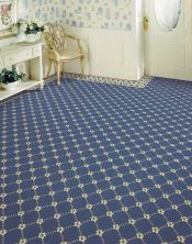 Luxe Pointe Nourison  Flower Trellis Lp03 Black Broadloom BLUE 1-LP03MEDBLBR1302WV