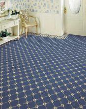 Luxe Pointe Nourison  Flower Trellis Lp03 Black Broadloom BLUE 1-LP03MEDBLBR1302WV