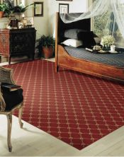 Luxe Pointe Nourison  Flower Trellis Lp03 Black Broadloom RED 1-LP03REDBR1302WV