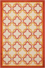 Nourison Aloha Transitional Red 2'8″ x 4'0″ ALH06RD3X4