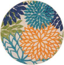 Nourison Aloha Contemporary Multicolor 4'0″ x 0'0″ Round ALH05MLTCLR4ROUND