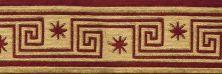 Cosmopolitan Nourison  Celestial C95b Bark Border RED 1-C95B051BO0008WV