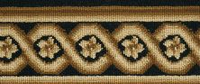 Luxe Pointe Nourison  Flower Trellis Lp13 Brown Border BLACK 1-LP13BLACKBO0008WV
