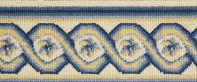 Luxe Pointe Nourison  Flower Trellis Lp13 Black Border BLUE 1-LP13IVBLUBO0008WV