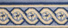 Luxe Pointe Nourison  Flower Trellis Lp13 Black Border BLUE 1-LP13LTBLUBO0008WV