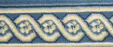 Luxe Pointe Nourison  Flower Trellis Lp13 Black Border BLUE 1-LP13MEDBLBO0008WV