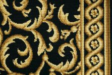 Luxe Pointe Nourison  Luxe Scroll Lp04 Ivory/Blue Broadloom BLACK 1-LP04BLACKBR1302WV