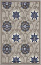 Nourison Aloha Grey/Blue 2'8″ x 4'0″ ALH19GRYBL3X4