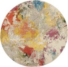 Nourison Celestial Ivory/Multicolor 5'3″ x 0'0″ Round CES12VRYMLTCLR5ROUND