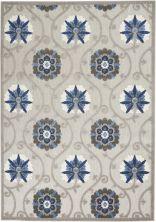 Nourison Aloha Grey/Blue 5'3″ x 7'5″ ALH19GRYBL5X8