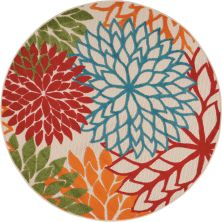 Nourison Aloha Contemporary Green 5'3″ x 0'0″ Round ALH05GRN5ROUND