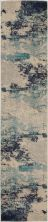 Nourison Celestial Ivory/Teal Blue 2'2″ x 10'0″ Runner CES02VRYTLBL10RUNNER
