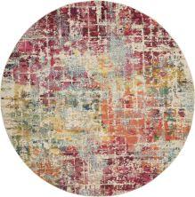 """Nourison Celestial Pink/Multicolor 7'10"""" x 0'0″ Round CES13PNKMLTCLR8ROUND"""