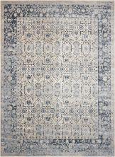 "Kathy Ireland Ki25 Rustic/Vintage, Traditional, Ivory/Blue 3'11"" x 5'7″ MAI04VRYBL4X6"