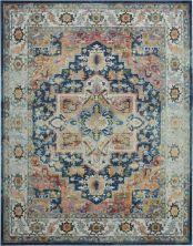 "Nourison Ankara Global Blue/Multicolor 8'11"" x 11'10"" ANR11BLMLTCLR9X12"