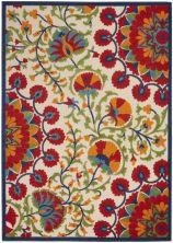 Nourison Aloha Red/Multicolor 5'3″ x 7'5″ ALH20RDMLTCLR5X8