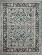 "Nourison Ankara Global Teal/Multicolor 8'11"" x 11'10"" ANR14TLMLTCLR9X12"