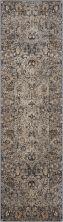 Kathy Ireland Ki25 Rustic/Vintage, Traditional, Slate 2'2″ x 7'7″ Runner MAI03SLT8RUNNER