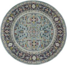Nourison Ankara Global Teal/Multicolor 6'0″ x 0'0″ Round ANR14TLMLTCLR6ROUND