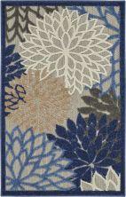 Nourison Aloha Blue/Multicolor 2'8″ x 4'0″ ALH05BLMLTCLR3X4