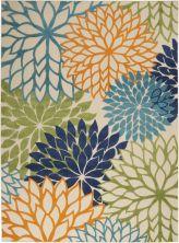 "Nourison Aloha Contemporary Multicolor 7'10"" x 10'6″ ALH05MLTCLR8X11"