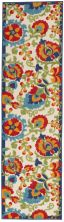 Nourison Aloha Transitional Multicolor 2'0″ x 6'0″ Runner ALH17MLTCLR6RUNNER