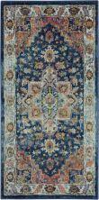 Nourison Ankara Global Blue/Multicolor 2'0″ x 4'0″ ANR11BLMLTCLR2X4
