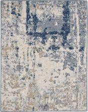 Nourison Artworks Ivory/Navy 2'3″ x 0'3″ ATW05VRYNVY2X3