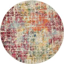 Nourison Celestial Pink/Multicolor 5'3″ x 0'0″ Round CES13PNKMLTCLR5ROUND