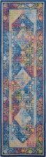 Nourison Ankara Global Blue/Multicolor 2'4″ x 8'0″ Runner ANR04BLMLTCLR8RUNNER