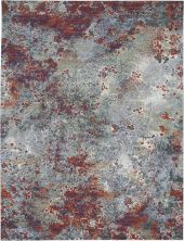 Nourison Artworks Seafoam/Brick 9'6″ x 12'6″ ATW02SFMBRCK10X13