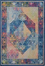 Nourison Ankara Global Blue/Multicolor 5'3″ x 7'6″ ANR04BLMLTCLR5X8