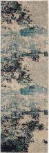 Nourison Celestial Ivory/Teal Blue 2'0″ x 6'0″ Runner CES02VRYTLBL6RUNNER