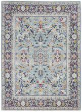 Nourison Ankara Global Teal/Multicolor 5'3″ x 7'6″ ANR14TLMLTCLR5X8