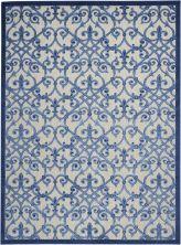 """Nourison Aloha Grey/Blue 7'10"""" x 10'6″ ALH21GRYBL8X11"""