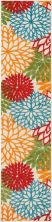Nourison Aloha Contemporary Green 2'3″ x 10'0″ Runner ALH05GRN10RUNNER