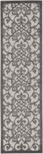 Nourison Aloha Grey/Charcoal 2'3″ x 8'0″ Runner ALH21GRYCHRCL8RUNNER