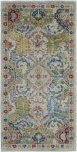 Nourison Ankara Global Grey/Multicolor 2'0″ x 4'0″ ANR12GRYMLTCLR2X4
