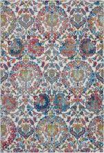 Nourison Ankara Global Ivory/Blue 5'3″ x 7'6″ ANR06VRYBL5X8