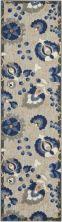 Nourison Aloha Natural/Blue 2'0″ x 6'0″ Runner ALH17NTRLBL6RUNNER