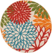 Nourison Aloha Contemporary Green 4'0″ x 0'0″ Round ALH05GRN4ROUND