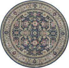 Nourison Ankara Global Navy/Multicolor 6'0″ x 0'0″ Round ANR13NVYMLTCLR6ROUND
