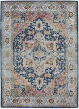 Nourison Ankara Global Blue/Multicolor 4'0″ x 6'0″ ANR11BLMLTCLR4X6