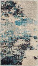Nourison Celestial Ivory/Teal Blue 2'2″ x 3'9″ CES02VRYTLBL2X4
