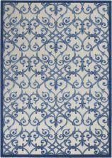 Nourison Aloha Grey/Blue 5'3″ x 7'5″ ALH21GRYBL5X8