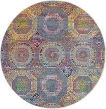 Nourison Ankara Global Multicolor 6'0″ x 6'0″ Round ANR05MLTCLR6ROUND