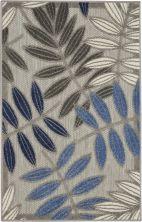 Nourison Aloha Grey/Blue 2'8″ x 4'0″ ALH18GRYBL3X4